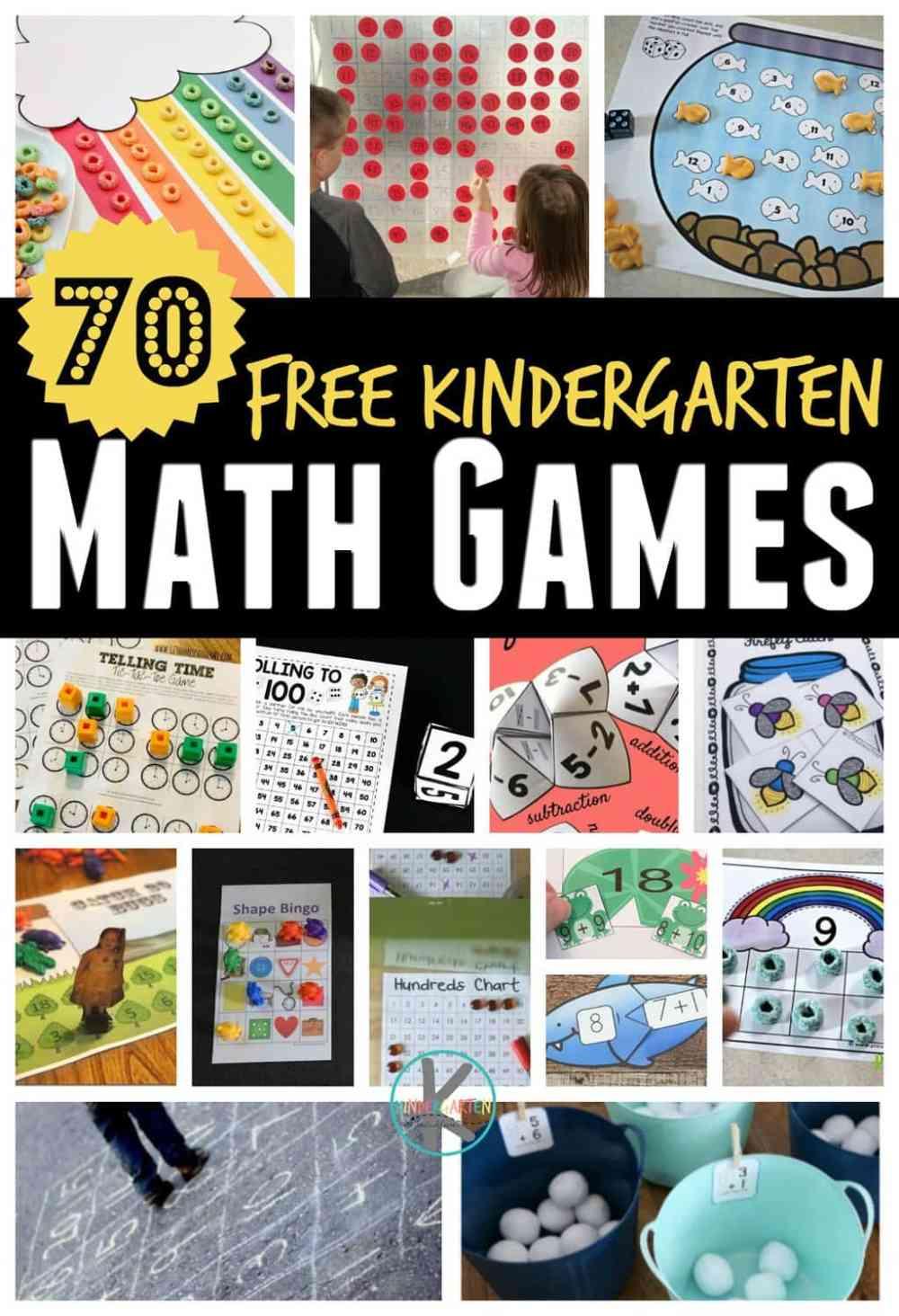 medium resolution of 70 FREE Kindergarten Math Games