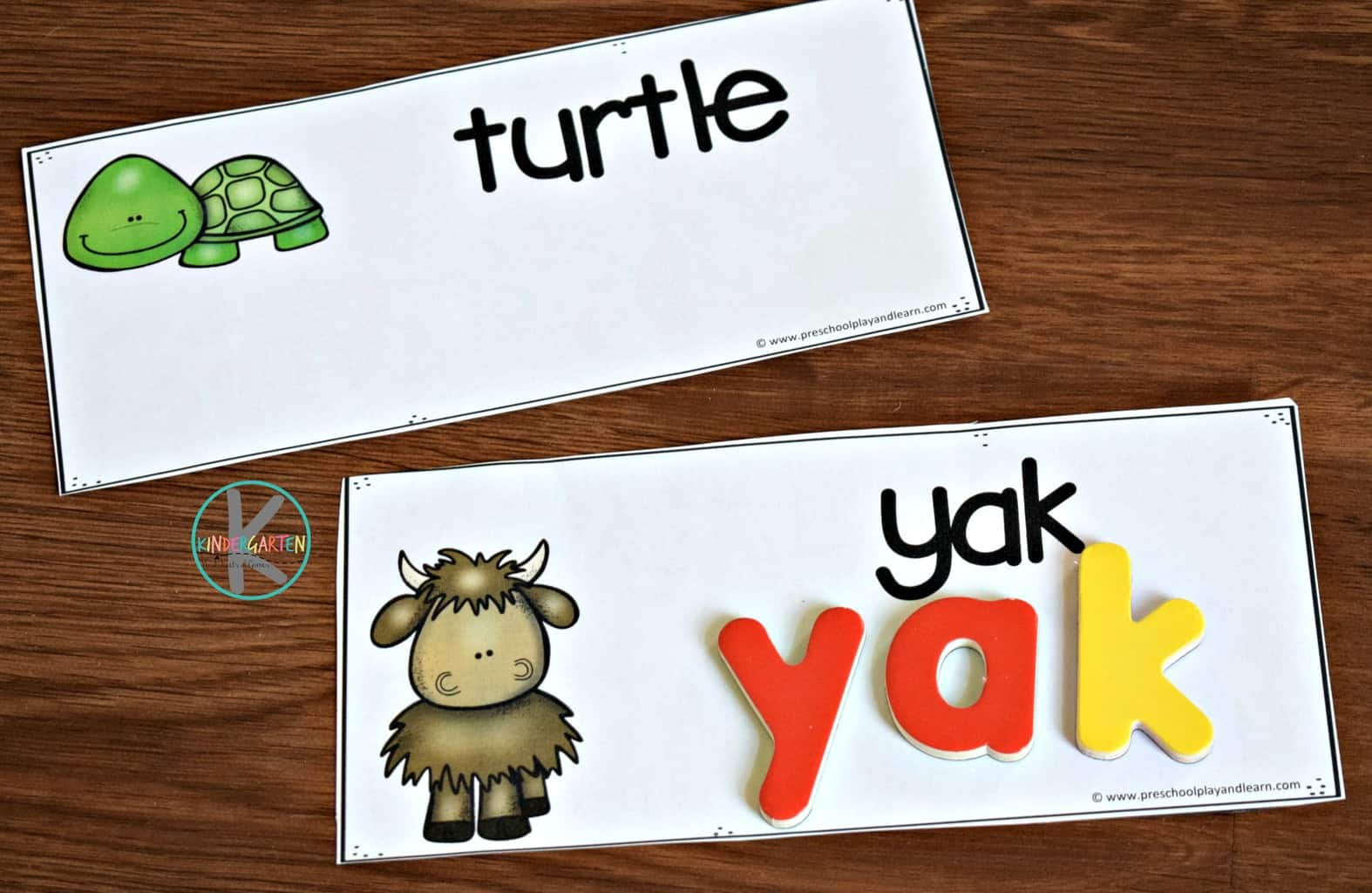 Spelling Animal Names With Magnetic Letters