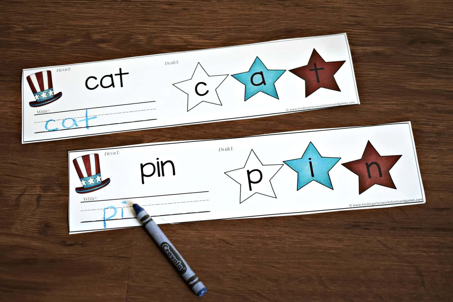Free 4th Of July Cvc Words Activity Kindergarten