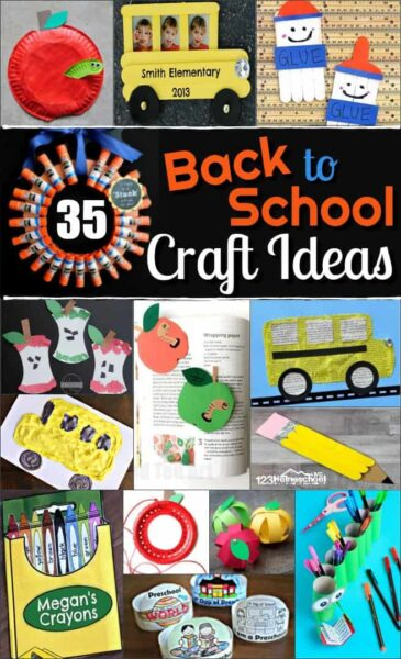 35 Back To School Crafts