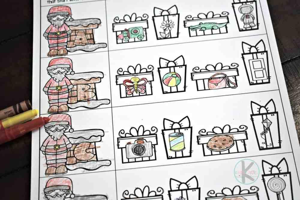 medium resolution of FREE Alphabet Christmas Worksheets for Kindergarten