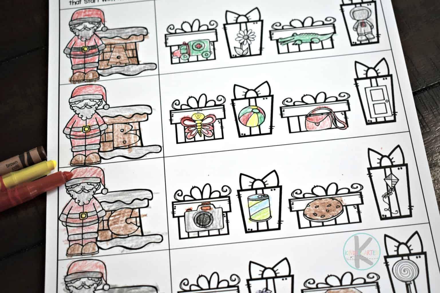 hight resolution of FREE Alphabet Christmas Worksheets for Kindergarten