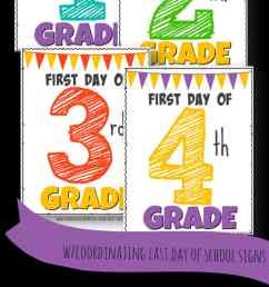 FREE Printable First Day of School Signs [ 2000 x 996 Pixel ]