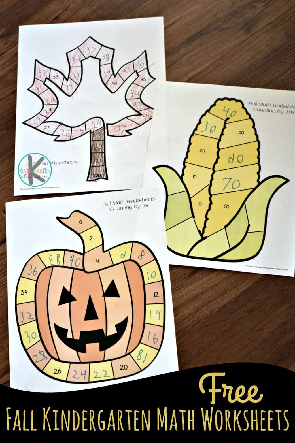 Fall Kindergarten Math Worksheets Kindergarten