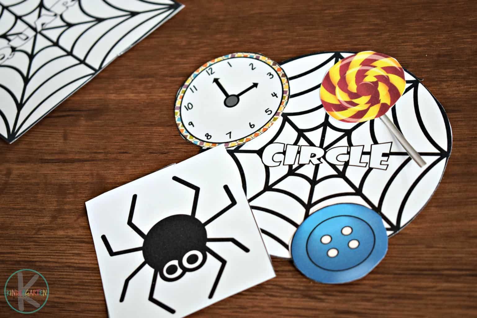 Shape Spider Mats Kindergarten Worksheets And Games