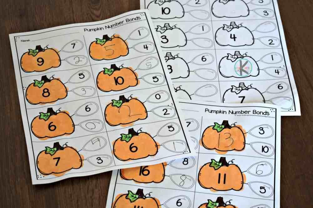 medium resolution of FREE Pumpkin Number Bonds to 10 Worksheet