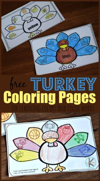 Super Cute Free Turkey Coloring Pages