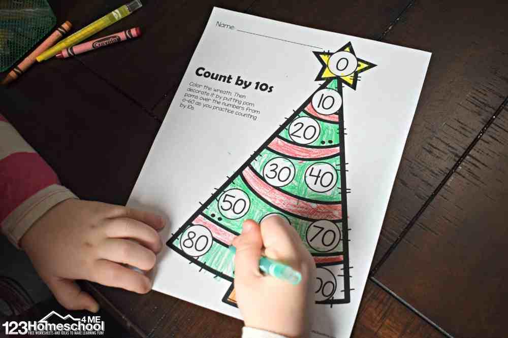 medium resolution of FREE Christmas Skip Counting Worksheets