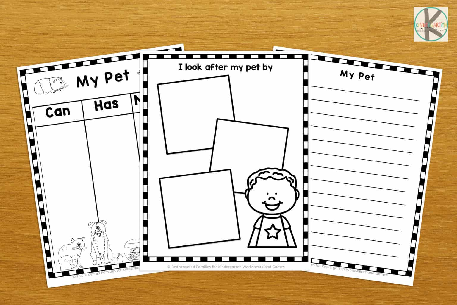 Writing About Pets Free Printable Book For Kindergarten
