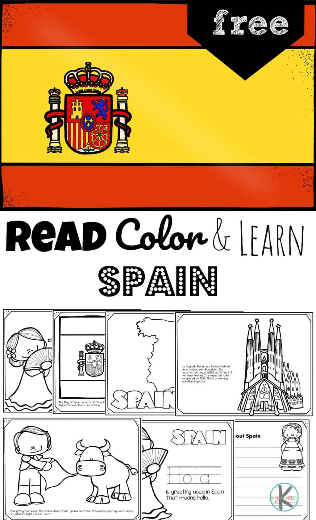 hight resolution of FREE Read Color and Learn about SPAIN