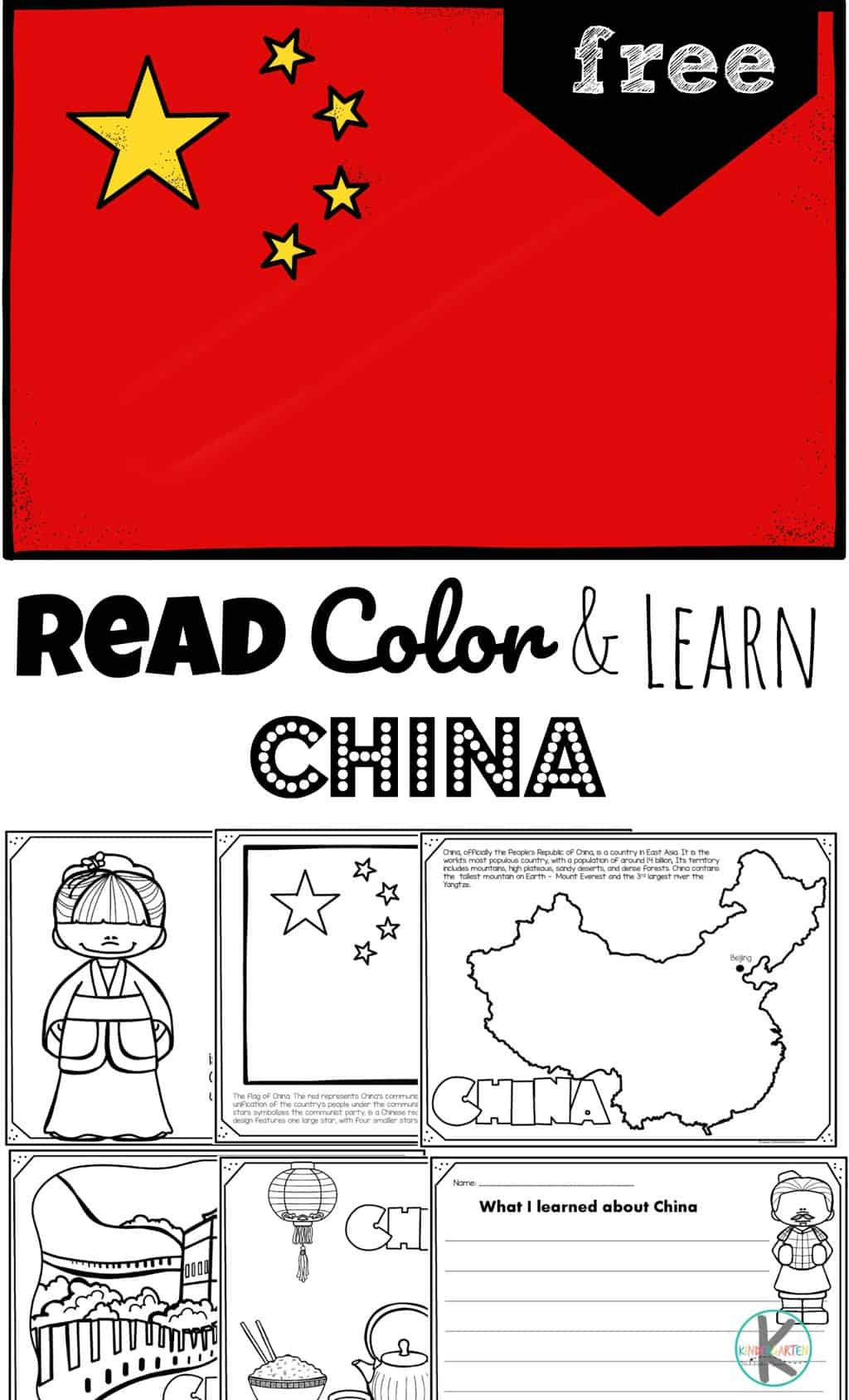 Read Color And Learn About China
