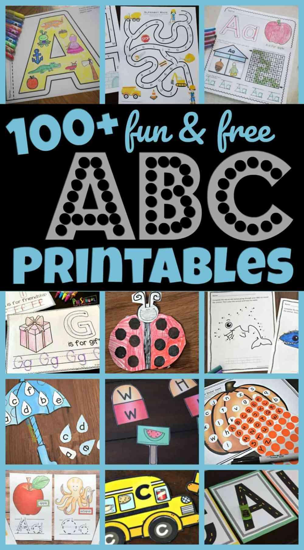 medium resolution of 100+ FREE Alphabet Printables