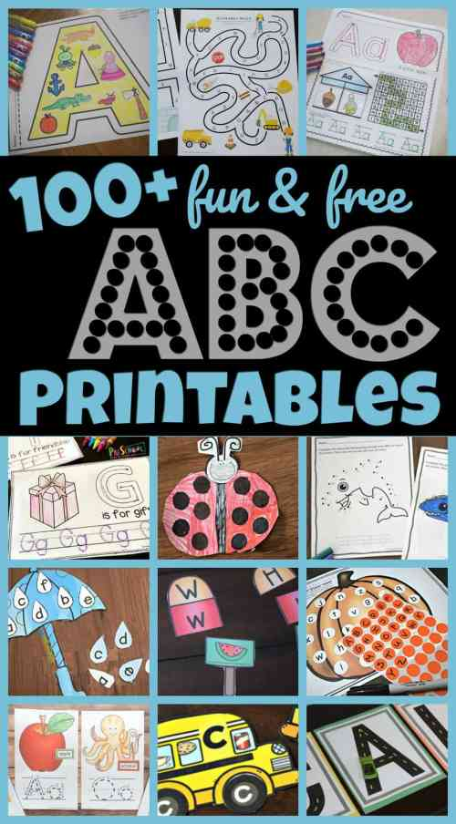 small resolution of 100+ FREE Alphabet Printables