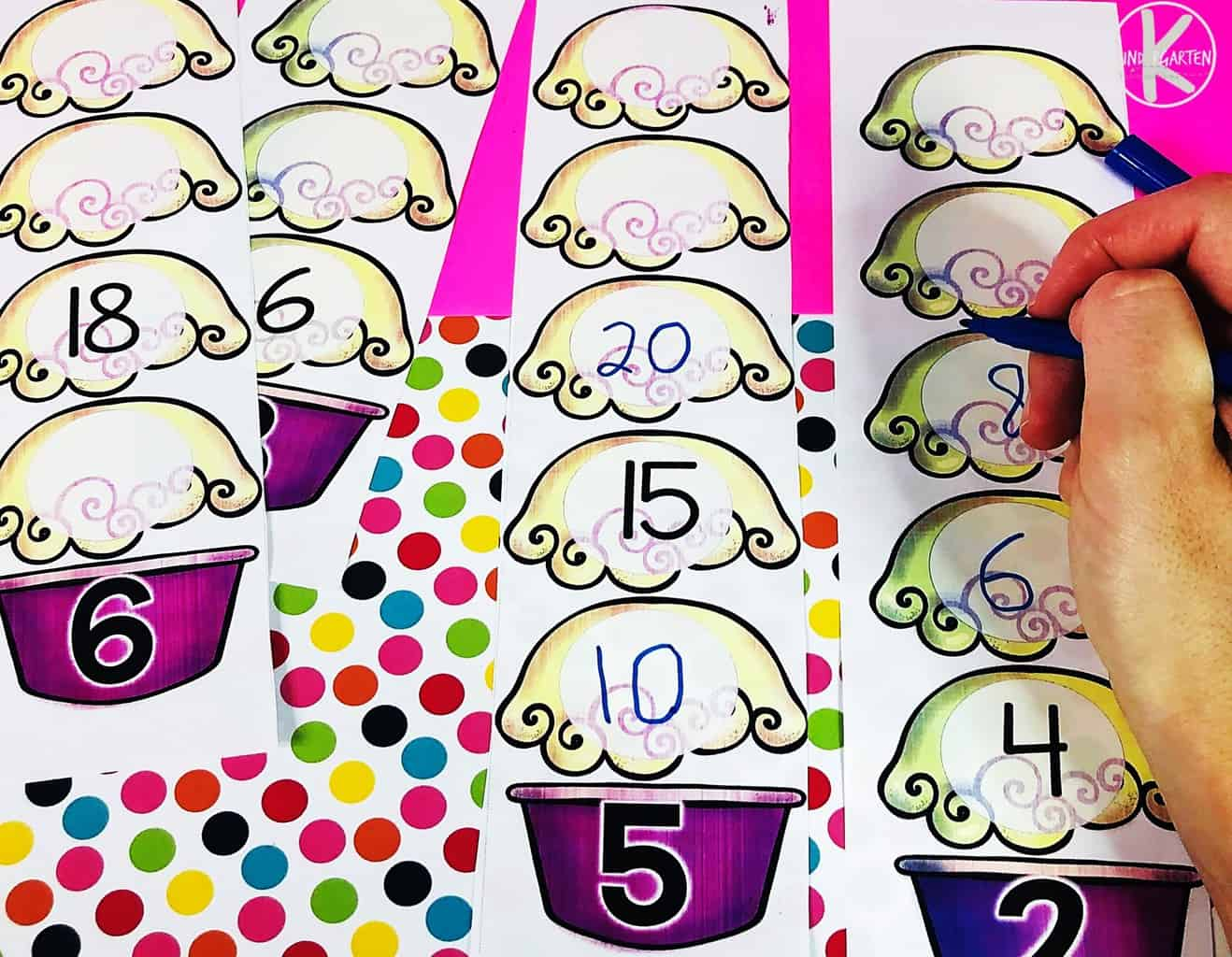 hight resolution of FREE Sundae Skip Counting Activity