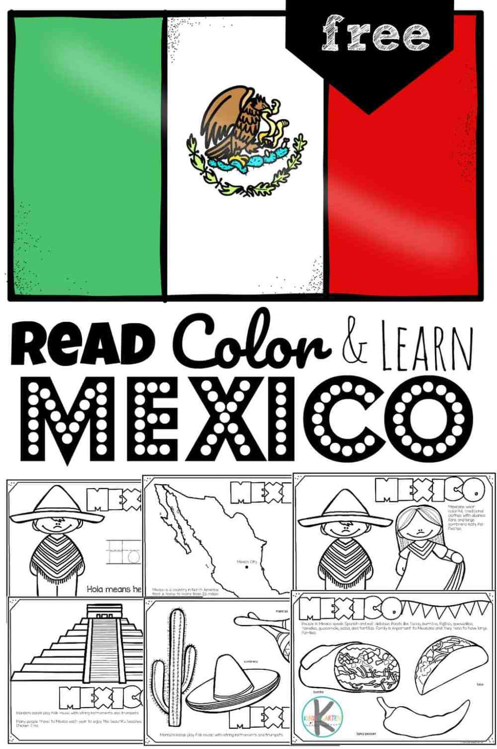 medium resolution of FREE Read Color and Learn about MEXICO