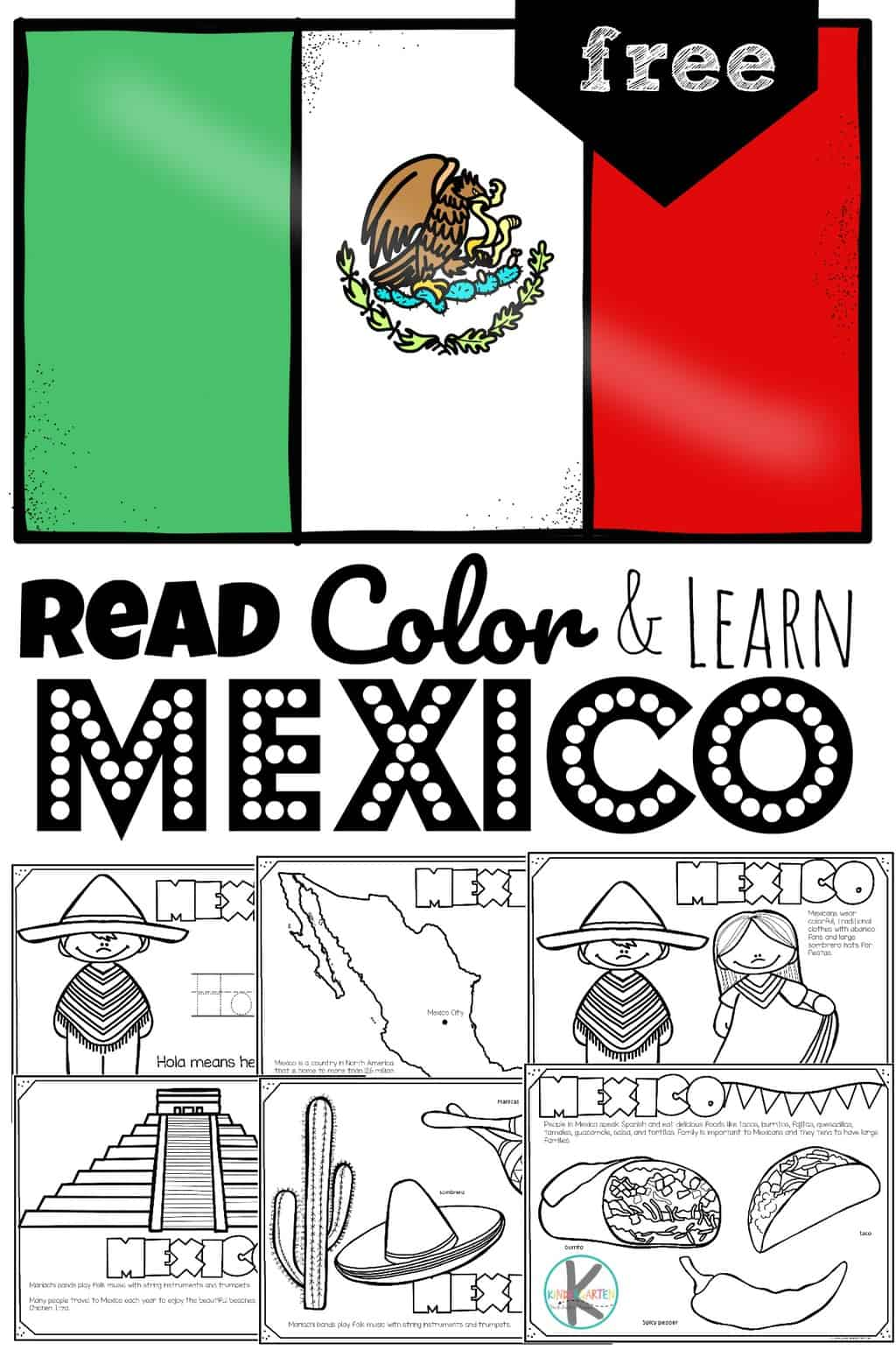 hight resolution of FREE Read Color and Learn about MEXICO