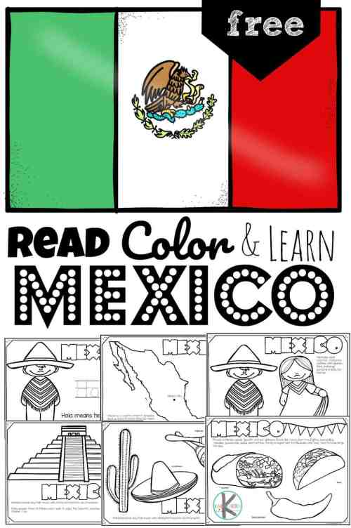 small resolution of FREE Read Color and Learn about MEXICO