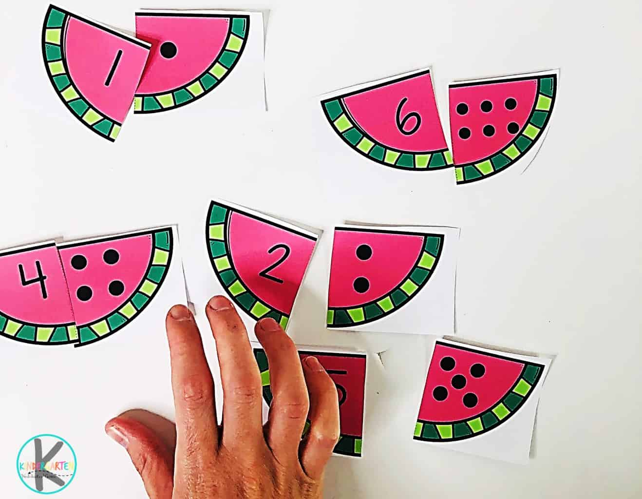 Free Watermelon Counting Puzzles