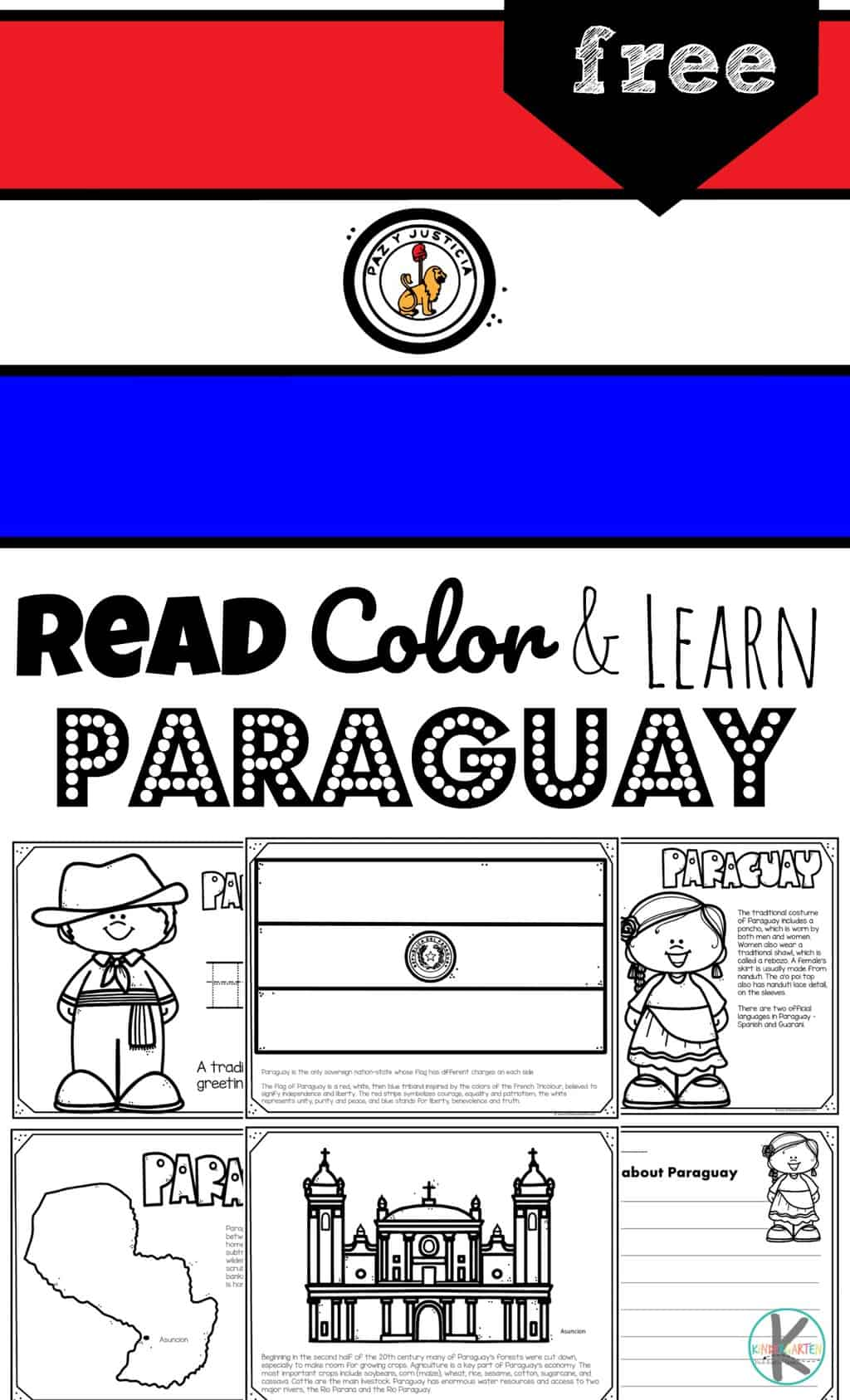 Free Read Color And Learn About Paraguay