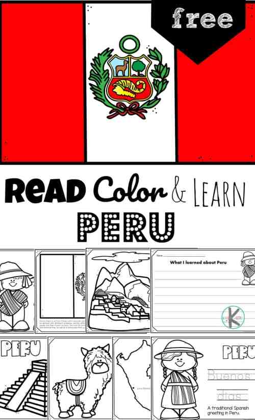 small resolution of Read Color and Learn - PERU Coloring Pages