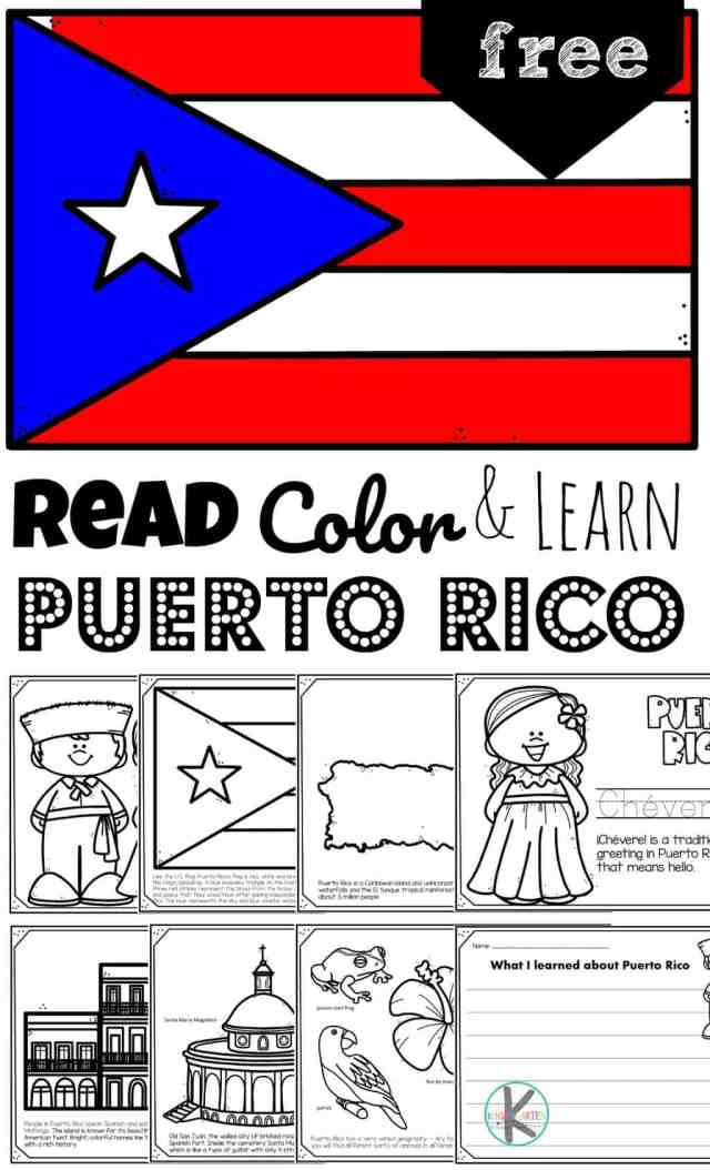 FREE Puerto Rico Coloring Pages