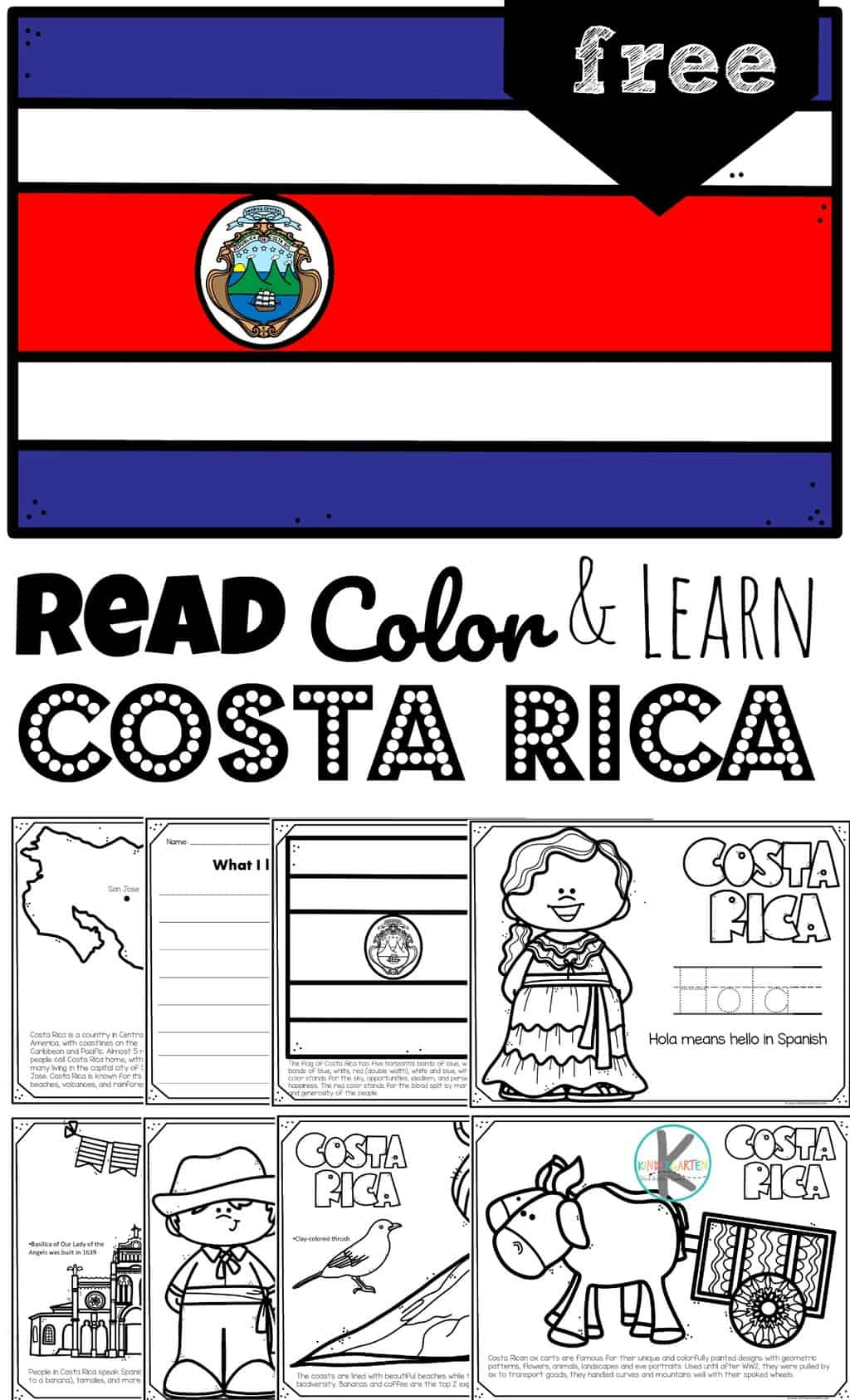 Free Read Color And Learn About Costa Rica