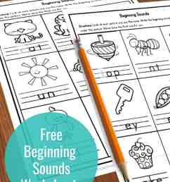 FREE Beginning Sounds Worksheets [ 1500 x 1000 Pixel ]