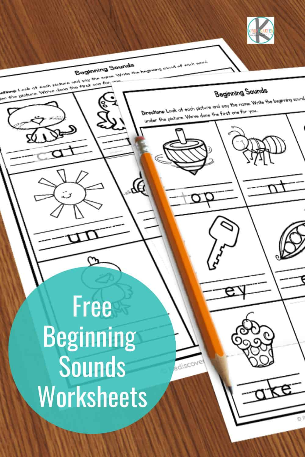 medium resolution of FREE Beginning Sounds Worksheets