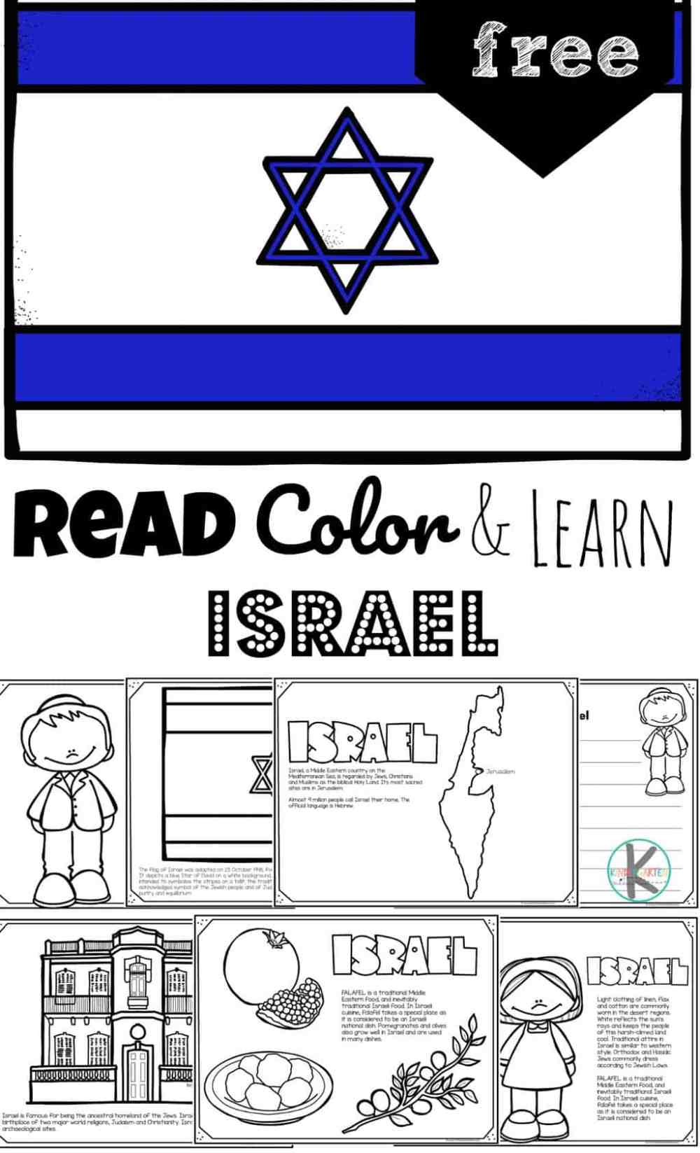 medium resolution of FREE Read Color and Learn about ISRAEL