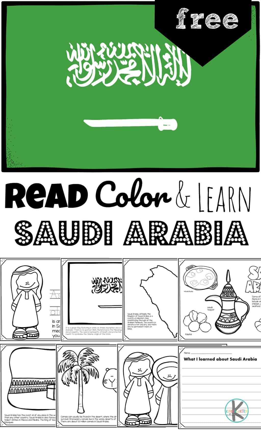 hight resolution of FREE Read Color and Learn about SAUDI ARABIA
