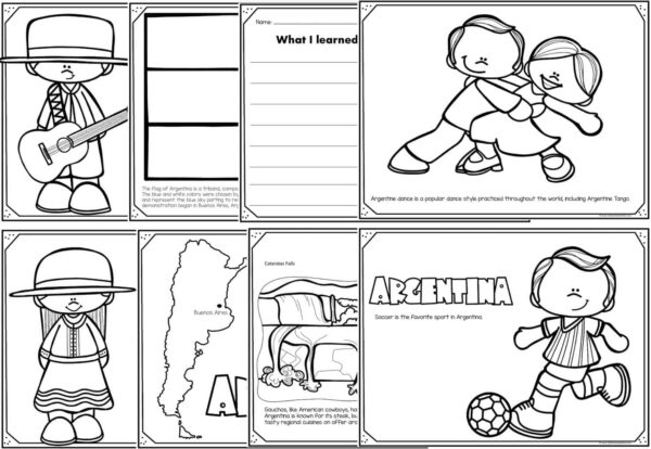 FREE Read Color and Learn about ARGENTINA