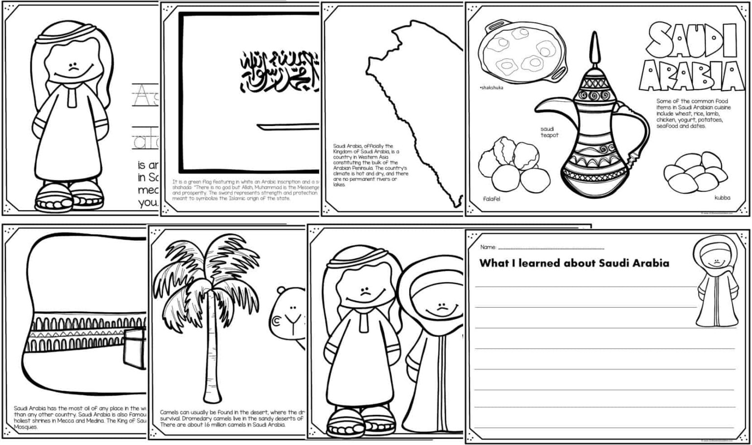 FREE Read Color and Learn about SAUDI ARABIA