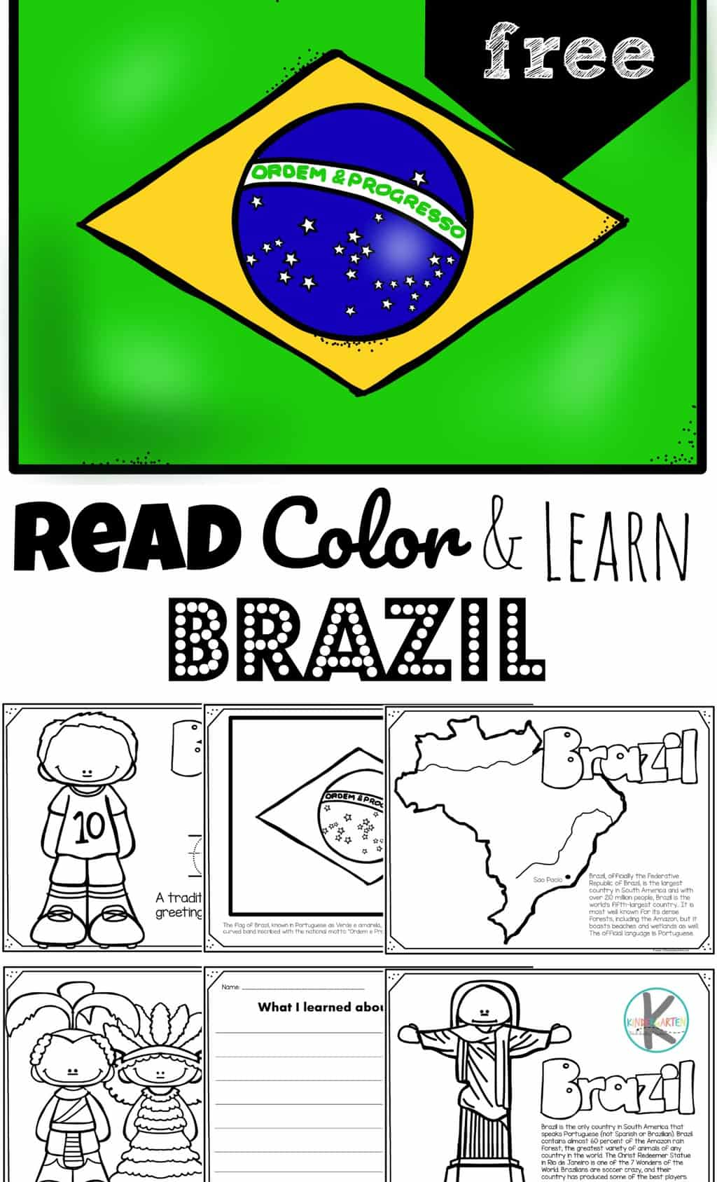 hight resolution of FREE Read Color and Learn about BRAZIL