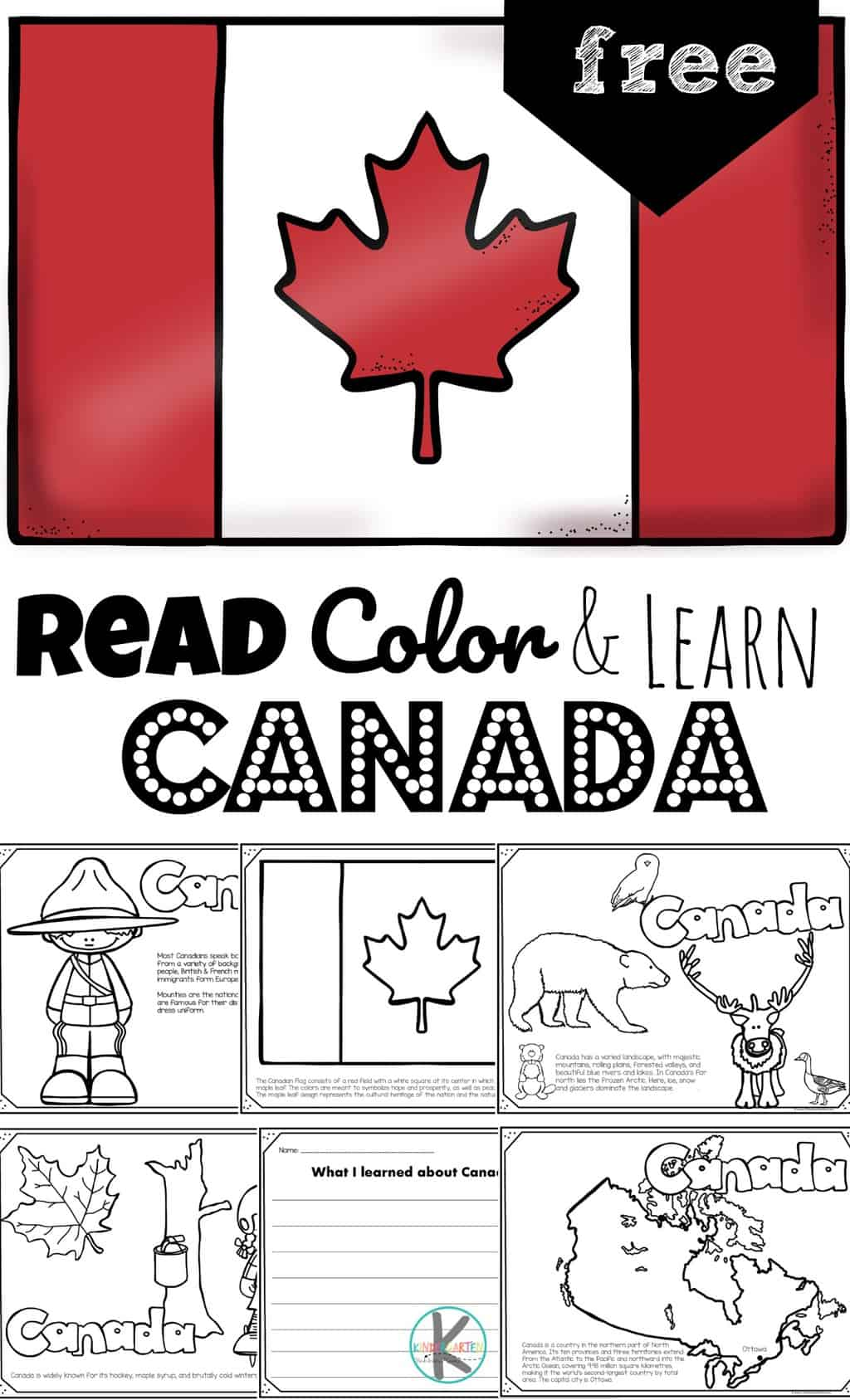 hight resolution of FREE Read Color and Learn about CANADA for Kids