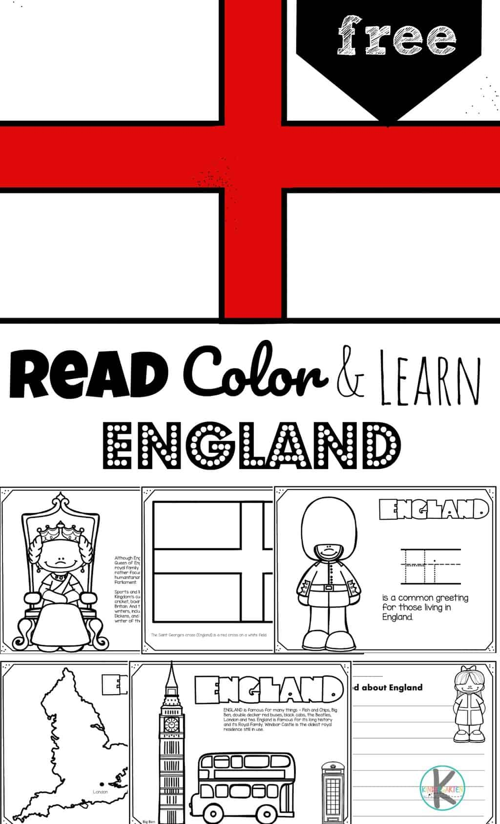 Read Color And Learn About England