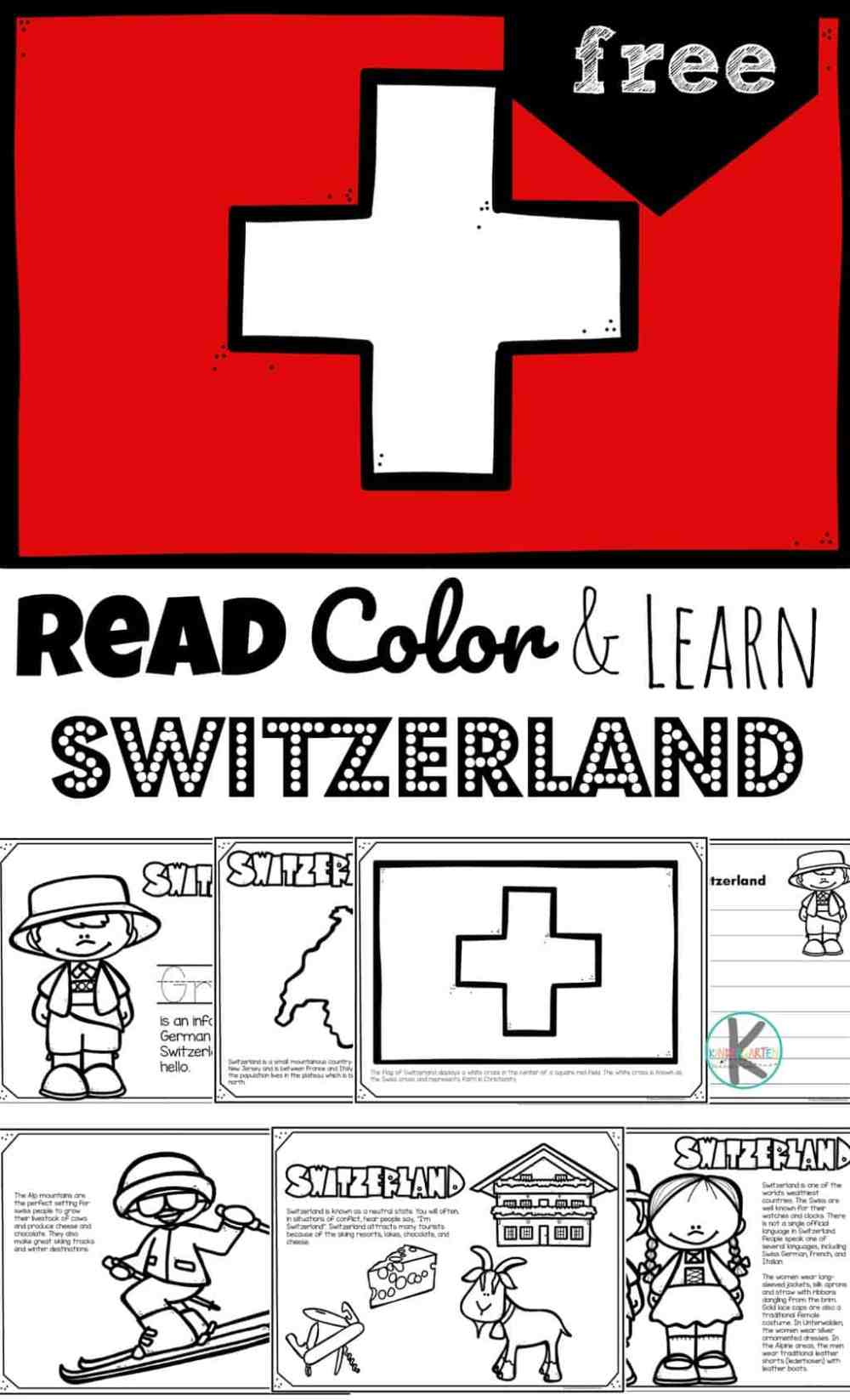 medium resolution of FREE Read Color and Learn about SWITZERLAND