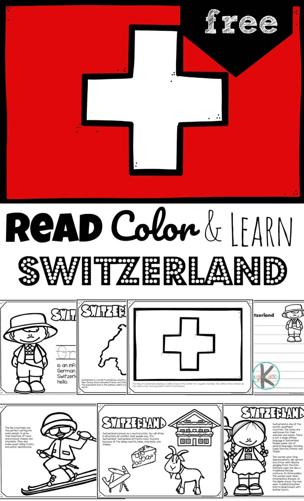 hight resolution of FREE Read Color and Learn about SWITZERLAND