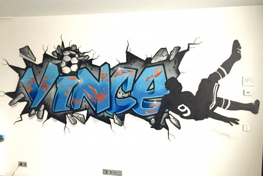 Graffiti kinderkamer Vince  Kinderkamer