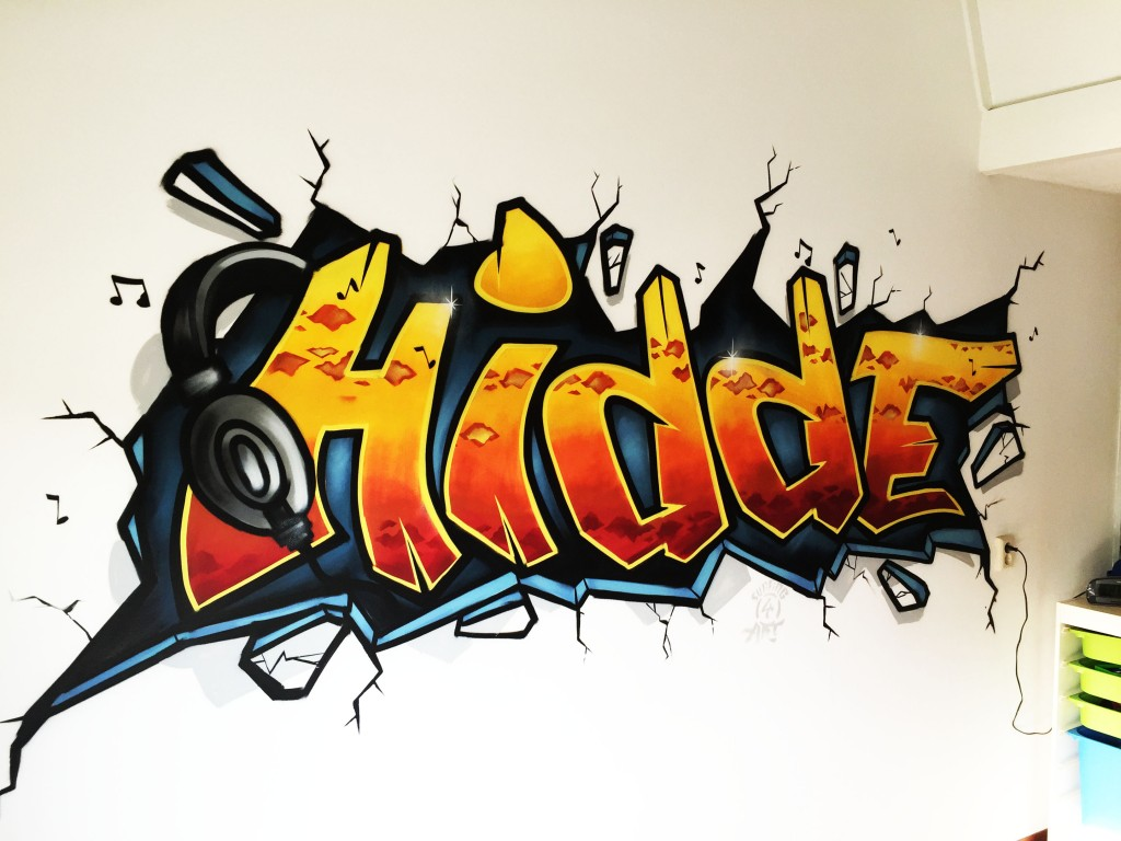 Graffiti kinderkamer specialist via Kinderkamergraffiti