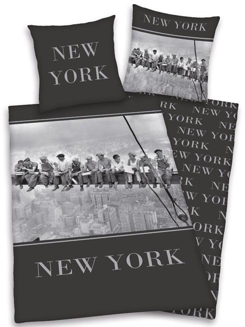 NEW YORK STAALWERKERS Dekbedovertrek  Eenpersoons NEW