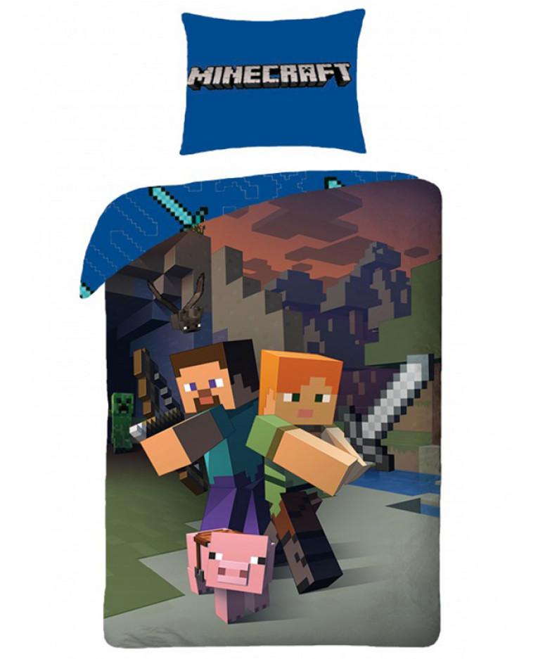Dekbedovertrek Minecraft  Miners Eenpersoons  hoes