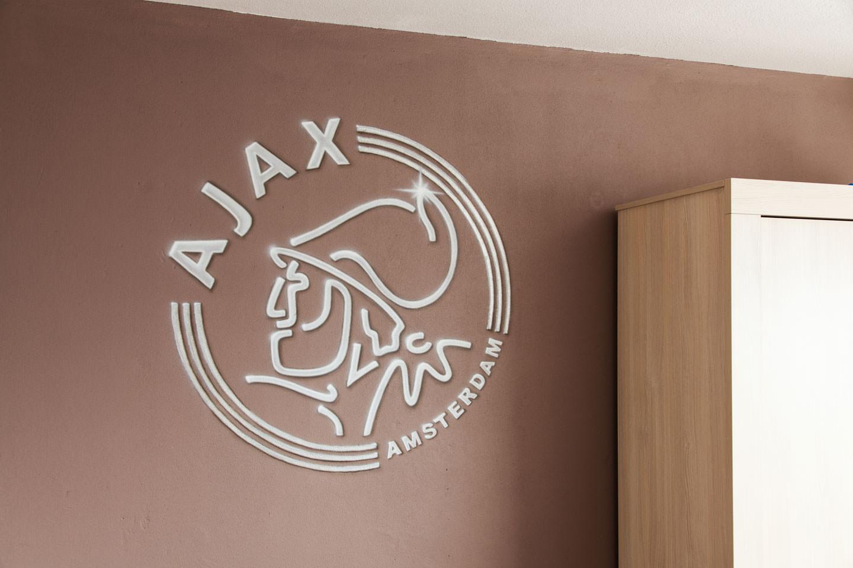Ajex logo muurschildering