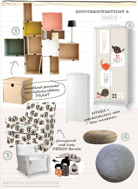 Ikea Design  kinderkamer idee  Kinderkamerstylist