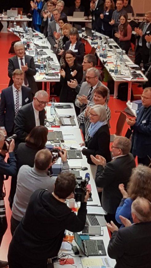 Foth und July nach Wahl Landessynode