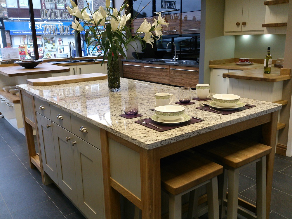 kitchen pull out shelves down faucet reviews showroom in derbyshire