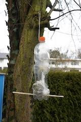 So sieht das fertige Vogelhaus aus. Foto(c) Kinderoutdoor.de