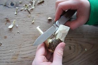 Jetzt nimmt der Spatz seine spätere Form an. Foto (c) Kinderoutdoor.de