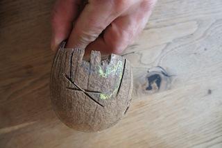 Säge ich doch! Zuerst die Zwischenräume bei den Beinen und Rüssel aussägen. Foto (c) Kinderoutdoor.de