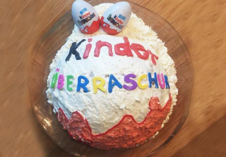 Rezept Kinderberraschungsei Torte  kinderrezeptede