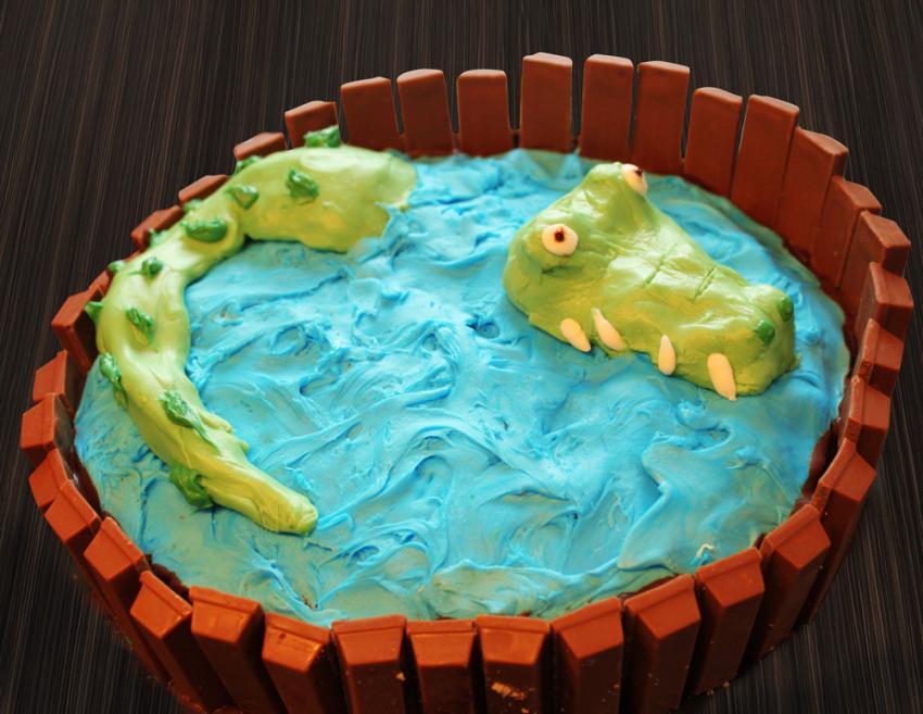 Rezept KrokodilGehege Kuchen  kinderrezeptede